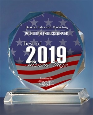 Beacon Sales and Marketing has been selected for the 2019 Best of Mission Viejo Awards in the category of Promotional Products Supplier.