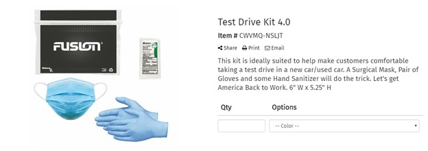 Branded Covid-19 kits are a great way to help your customers stay safe!